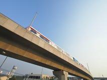 Bangkok skytrain. View of high speed skytrain of Bangkok city Thailand in daytime Stock Photos