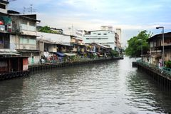 Bangkok slum Stock Photo