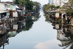 Bangkok slum Royalty Free Stock Images