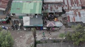 Bangkok slumm stock footage