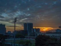 bangkok solnedgång Arkivfoton