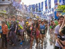 Bangkok Songkran festival Royaltyfria Bilder