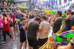 Bangkok Songkran festival Arkivfoton