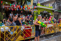 Bangkok Songkran festival Royaltyfri Foto