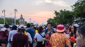 Bangkok Songkran festival Arkivbilder