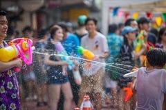 Bangkok Songkran Festival Siam Square 2016 Stock Photo