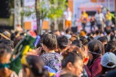 Bangkok Songkran Festival Siam Square 2016 Royalty Free Stock Photos