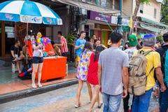 Bangkok Songkran festiwal Obrazy Royalty Free