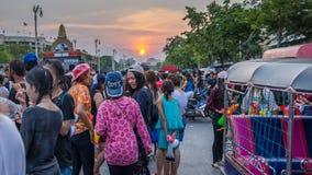 Bangkok Songkran festiwal Zdjęcie Royalty Free
