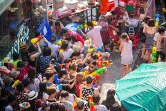 Bangkok Songkran festiwalu Siam kwadrat 2016 Zdjęcie Royalty Free