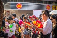 Bangkok Songkran festiwalu Siam kwadrat 2016 Fotografia Stock