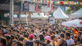 Bangkok Songkran festiwalu Siam kwadrat 2016 Zdjęcia Royalty Free