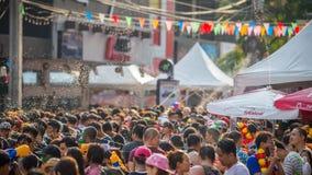 Bangkok Songkran festiwalu Siam kwadrat 2016 Obraz Royalty Free