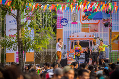 Bangkok Songkran festiwalu Siam kwadrat 2016 Obrazy Stock