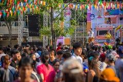 Bangkok Songkran festiwalu Siam kwadrat 2016 Zdjęcia Stock