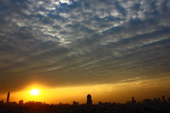 Bangkok-Sonnenuntergang Stockfotografie