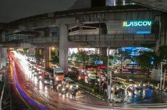 Bangkok sover aldrig Arkivbild