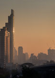 Bangkok stad i morgon Arkivfoto
