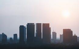 Bangkok stad i morgon Royaltyfria Bilder