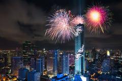 Bangkok stadshorisont Arkivfoto