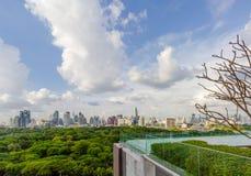 Bangkok stadssikt fotografering för bildbyråer