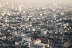 Bangkok stadssikt från över, Thailand Arkivfoto