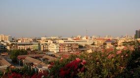 Bangkok-Stadt-Ansicht und Smog stockbild