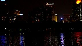 Bangkok-Stadt an der Nachtguten Ansicht verwischt stock video footage