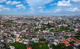 Bangkok-Stadt in der Vogelperspektive Lizenzfreie Stockbilder