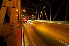 Bangkok-Stadt, Nachtansicht, Hauptverkehrszeit Stockfotografie