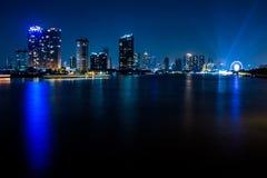Bangkok-Stadt-Nachtlicht Lizenzfreie Stockbilder