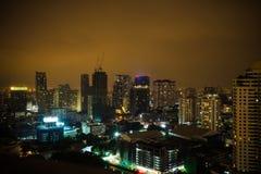 Bangkok-Stadt nachts Stockfoto