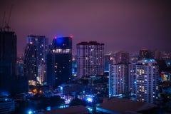 Bangkok-Stadt nachts Lizenzfreie Stockfotografie