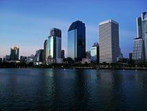 Bangkok-Stadt nachts Lizenzfreie Stockbilder