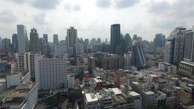 Bangkok-Stadt-Panorama-Vogelperspektive stock footage