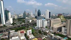Bangkok-Stadt-Panorama-Vogelperspektive stock video