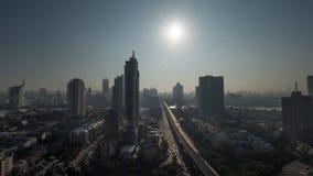Bangkok-Stadtansicht am hellen Sonnenschein, Thailand Stockfotos