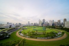 Bangkok-Stadtbildhintergrund stockbild