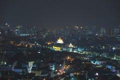 Bangkok-Stadtnachtlicht, Thailand Stockfoto