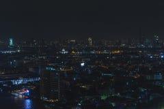 Bangkok-Stadtnachtlicht, Thailand Stockfotografie