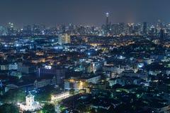 Bangkok-Stadtnachtlicht, Thailand Lizenzfreie Stockfotografie