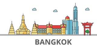 Bangkok-Stadtskyline lizenzfreie abbildung