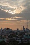 Bangkok-Stadtsonnenuntergang Lizenzfreie Stockfotografie