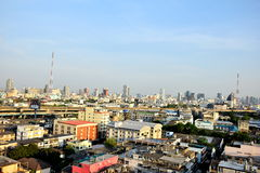 Bangkok-Standpunkt-Lärm--Daengschnellstraße Stockfotos