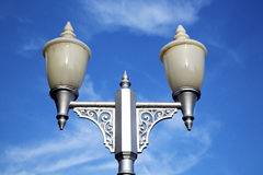 Bangkok  street lamp in the sky   palaces  temple   abstract Royalty Free Stock Photo