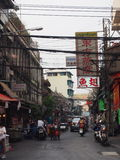 Bangkok street. In the popular district of chinatown Stock Images