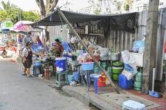 Bangkok street restaurant Stock Image