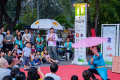 Bangkok Street Show Royalty Free Stock Photos