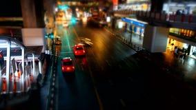 Bangkok Street Top View Night Timelapse stock footage
