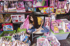 Bangkok stret shoppar Royaltyfri Bild